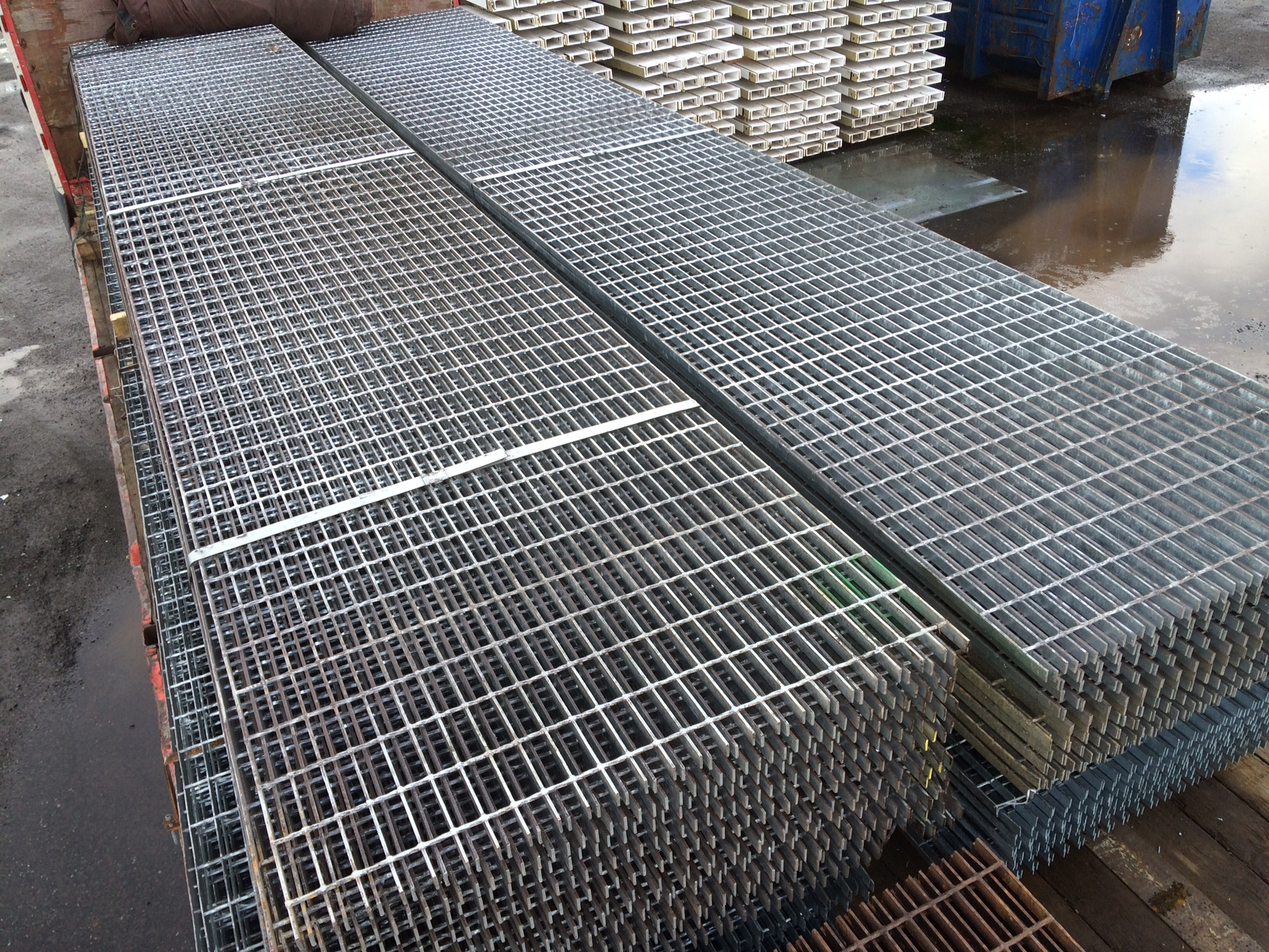Floor Forge Walkway Galvanised Steel Grating 6 000mtr X 1