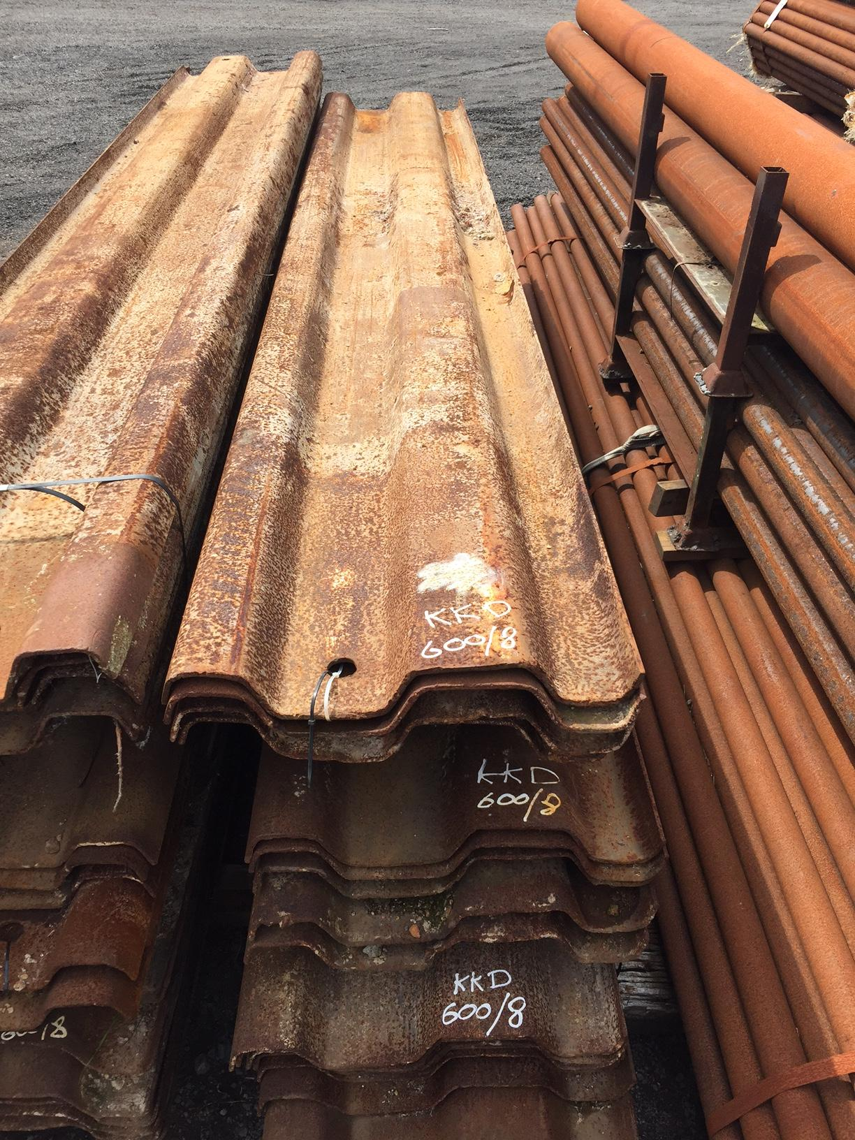 Used Lapped Trench Sheet Piles Steel Piling Lapped